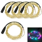 JIAWEN 3W RGB Light LED String Light - Silver (5*1m / DC 12V)