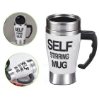 350ML Self Stirring Mixing Coffee Mug Cup - White + Black