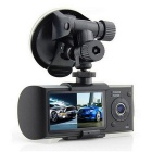 "R300 2.7"" TFT LCD Dual Camera 3.0MP Car DVR Recorder - Dark Grey"