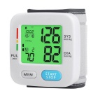 Fully Automatic Backlight Wrist Blood Pressure Monitor - White