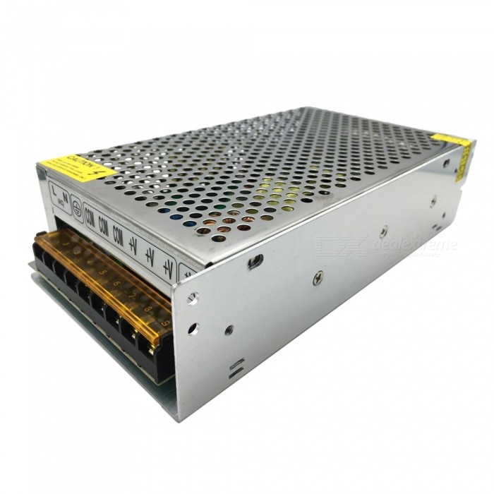 SAMDI DC 12V 20A 250W Switching Power Supply - Silver GreySwitching Power Supply<br>Power250.0WModelN/AForm  ColorSilver Grey + Black + Multi-ColoredMaterialIronQuantity1 DX.PCM.Model.AttributeModel.UnitRated Current20 DX.PCM.Model.AttributeModel.UnitRate Voltage12VWorking Temperature-40~+65 DX.PCM.Model.AttributeModel.UnitWorking Humidity20% ~ 90% RH non condensingCertificationCE, FCC, RoHSPacking List1 * Switching power supply<br>