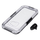 Waterproof PC Case for Samsung Galaxy S7 - Black + Transparent