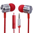 EF-E4 3.5mm In-Ear Stereo Earphones Support Handsfree Call - Red