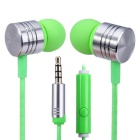 EF-E4 3.5mm In-Ear Stereo Earphones Support Handsfree Call - Green