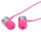 EF-E4 3.5mm In-Ear Stereo Earphones Support Handsfree Call - Pink