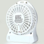 Outdoor Mini Portable USB Rechargeable Fan w/ LED Light - White