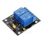 Keyestudio Dual Relay Module for Arduino - Black + Yellow