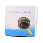 Waterproof Lens Hood Cover Ball Case w/ Switch Button - Black + Yellow