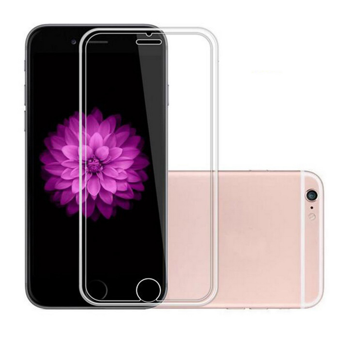 Película de vidro Tempered Glass de silicone para IPHONE 6 PLUS - Transparente