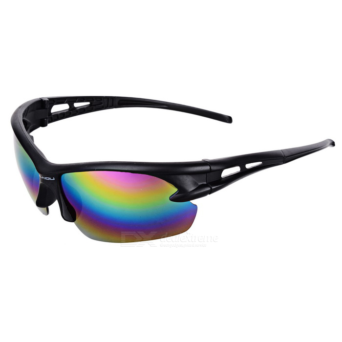 OULAIOU Anti-Explosion UV400 Protection Cycling Sunglasses - Black