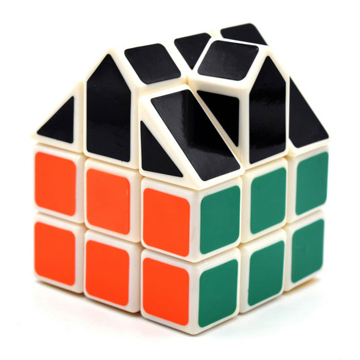 3*3*3 Irregular House Shape Cube - Blue + Black + Multicolor