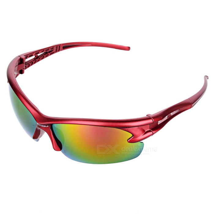 OULAIOU Anti-Explosion UV400 Protection Cycling Sunglasses - Red
