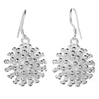 Beautiful Flower Shaped Silver 925 Earrings - Silvery White (Pair)