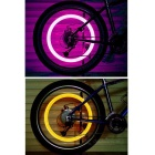 Bicycle Wheel Valve Cap Lamp Red Light - Silver + Pink (2 PCS)