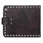 Unisex personalizado fresco Wallet Punk Rock Style - Brown + prata