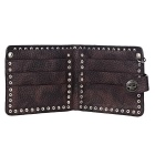 Unisex Personalized Cool Rock Punk Style Wallet - Brown + Silver