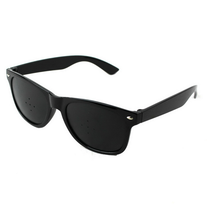 5 Fly Pinholes Anti Fatigue Myopia Glasses - Black