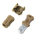 Portable Survival Tool Equipment Multifunction Mini Knife - Khaki