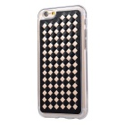 Woven Pattern Back Cover Case for IPHONE 6 / 6S - Black + Gold