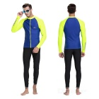 Sbart Men's Scuba Diving Surfing Dive Skin - Blue + Fluorescent (XXL)