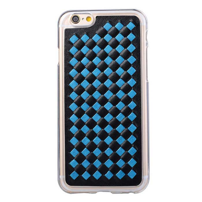 Woven Pattern Back Cover Case for IPHONE 6 / 6S - Black + Blue
