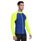 Sbart Men's Scuba Diving Surfing Dive Skin - Blue + Fluorescent (XXXL)