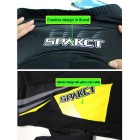 SPAKCT CSY376 Unisex Casual Cycling Padded Long Pants - Black (XXL)