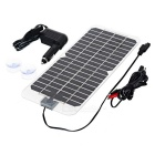 12V 5.5W Solar Powered Car Charger - Black