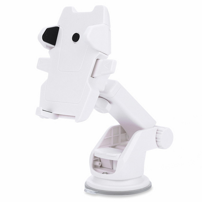 Stretchable Vehicle Suction Stand Mount for 5.3~8.5cm Phone - White