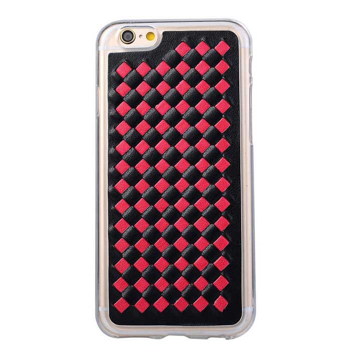 Woven Pattern Back Cover for IPHONE 6 / 6S - Black + Red