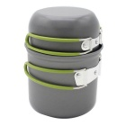 Portable Aluminum Alloy Camping Pot w/ Foldable Handle