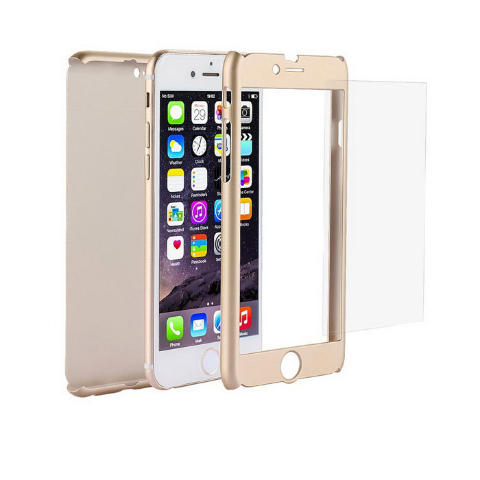 Ultra Slim Full Body Coverage PC Case for IPHONE 6 / 6S - GoldenPlastic Cases<br>Form  ColorGoldenQuantity1 DX.PCM.Model.AttributeModel.UnitMaterialPCCompatible ModelsIPHONE 6S,IPHONE 6DesignSolid ColorStyleFull Body CasesPacking List1 * Case1 * Glass screen protector1 * Alcohol cloth<br>