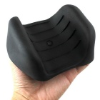 Soft Plastic Catch Fish Antiskid Fishing Tackle Hand Guard - Black