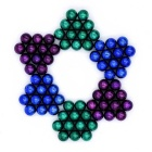 DIY 5mm NdFeB Magnetic Ball Toy - Roxo + Verde + Azul escuro (72 PCS)
