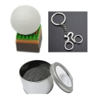 SAMDI Golf Ball USB 2.0 Flash Drive - Branco + Verde + Brown (8GB)