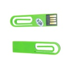 SAMDI Clip Shape USB 2.0 Flash Drive - Green (8GB)