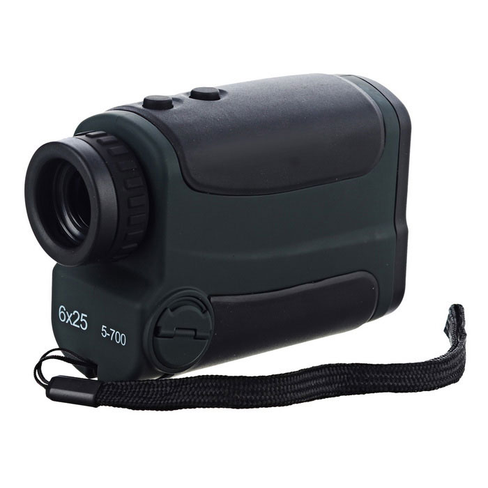 Portable 6X 25 5 ~ 700m Laser Range Finder - Noir + Vert (1 * CR2)