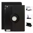 360' Rotating Detachable TPU Twill Soft Case for IPAD 2/3/4 - Black