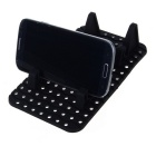 Versatile Cell Phone Parking Number Plate Anti-Slip Mat - Black