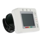 Wrist Bluetooth V4.0 Digital LCD Blood Pressure Monitor - White
