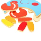 Crab Shaped Puzzle Wooden Blocks Cartoon Toy - Multi-Colored
