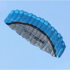 Outdoor Sports 2.5m Soft Kite Dual Line Stunt Parafoil Kite Kit - Blue