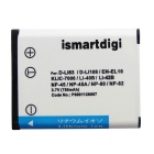 ismartdigi LI40B Battery + Micro USB Charger for Canon / Nikon / Kodak
