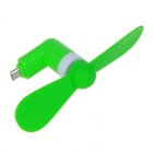 Universal V8 Mini Silent Electric Fan for Android Cell Phones - Green