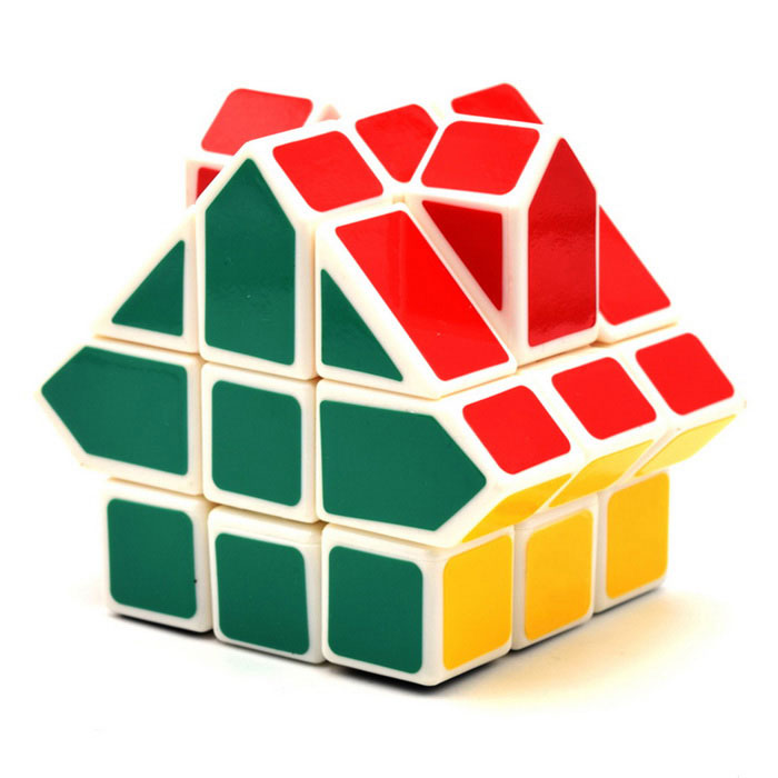 3*3*3 Irregular House Shape Cube - Red + Blue + Multicolor