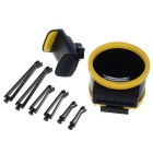 Universal Car Cell Phone / Drink Bottle Holder - Black + Yellow