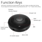 Wireless Bluetooth V4.0 Stereo 3.5mm Audio Receiver Hands-Free - Black