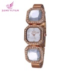 WeiQin 391202 Women's Crystal Bracelet Quartz Watch - Rose Gold +White