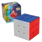 Shengshou 3 * 3 * 3 56mm Cube Magic Rubik - Bleu + Jaune + Multi-couleur