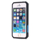 TPU + PC Back Case for IPHONE SE / 5S / 5 - Black + Blue